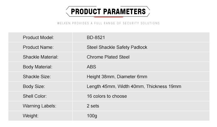 3 padlock parameter