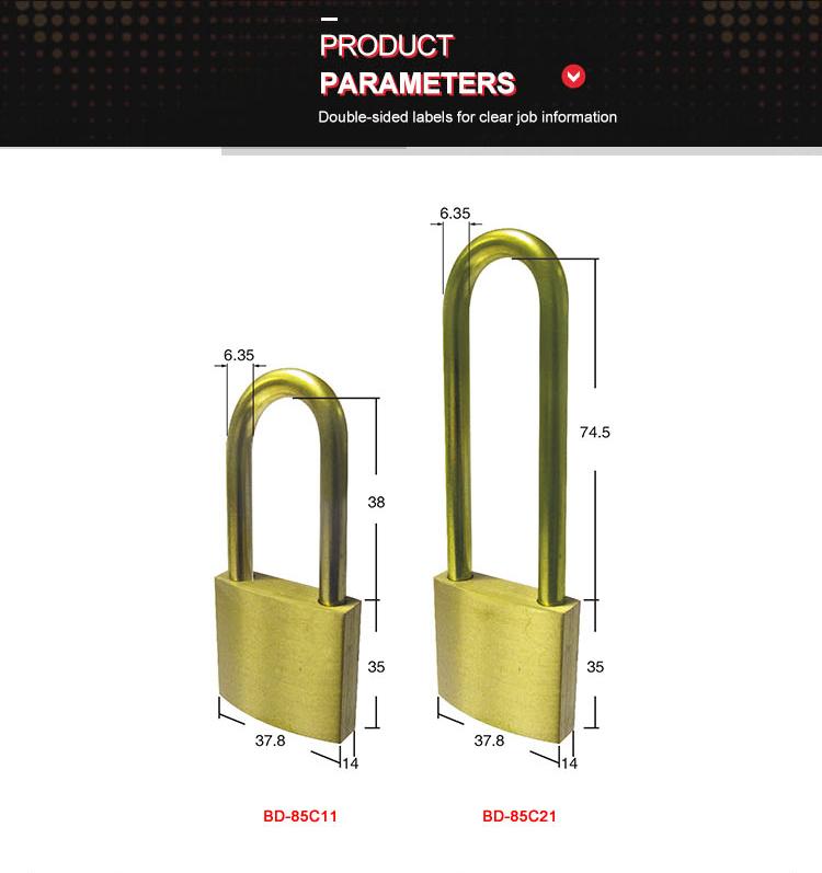 brass safety padlock