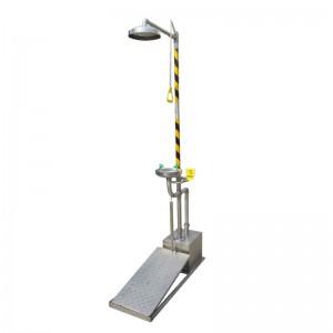 Anti-Freeze e Combinação Esvaziamento Automatic Aço inoxidável lavagem ocular & Shower BD-560D